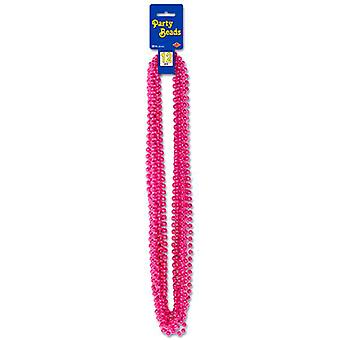 Metallic Cerise Pink Party Beads