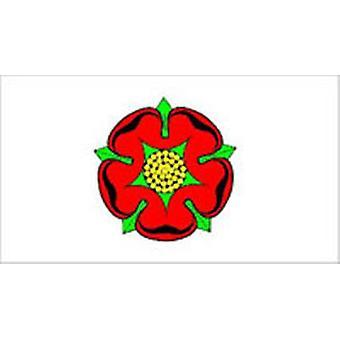 Lancashire vlag 5 ft x 3 ft met oogjes voor verkeerd-om