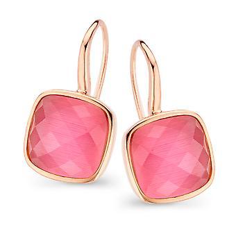 Orphelia Silver 925 Earring Rose Gold haak roze zirkonium ZO-7198/PI