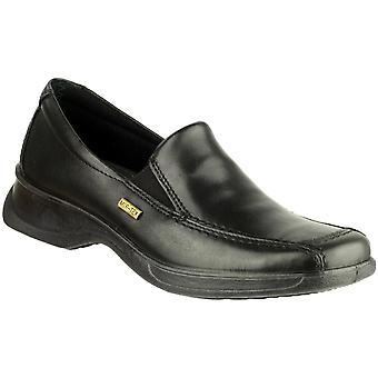 Cotswold damer Hazleton läder vattentät Casual dagdrivare skor svart