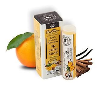 Cura del labbro di cera d'api stecca di vaniglia-arancio-cannella 5ml