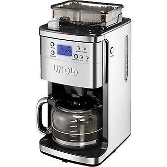 Unold Coffee maker Stainless steel, Black Cup volume=12 Display, Glass jug, Timer, Plate warmer, incl. grinder