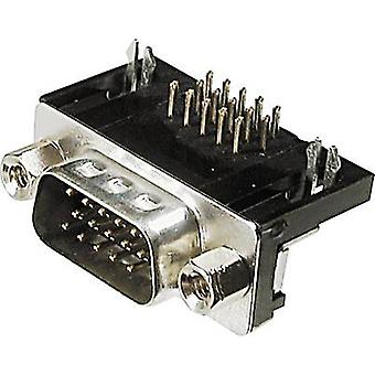 ASSMANN WSW A-HDS 15 A-KG/T D-SUB pin strip 90 ° antal stift: 15 lödning 1 dator