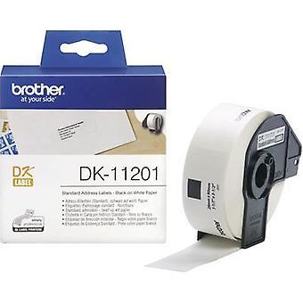 Brother DK-11201 etiketti roll 90 x 29 mm paperi valkoinen 400 PCs() pysyvä DK11201 osoitetarrat