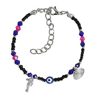 Zło oko ochrony Amulet Niebieski Pink Czarny akcenty morze koń magiczne symbole Lucky Charms bransoletka