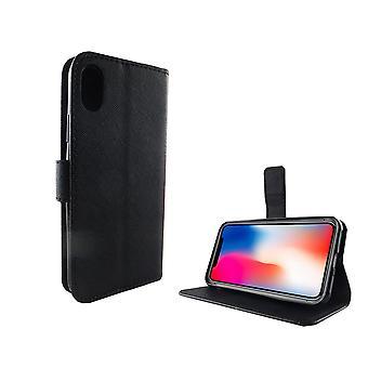 Handyhülle Tasche für Handy Apple iPhone X Schwarz