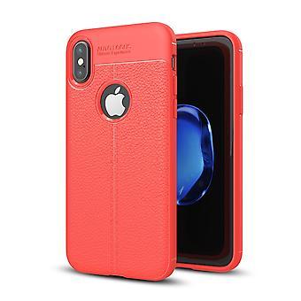 Silicone pele capa capa para bolsa de quadro do Apple iPhone X tampa vermelha