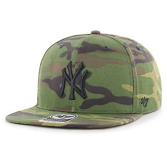 47 fire Snapback Cap - GROVE New York Yankees wood camo