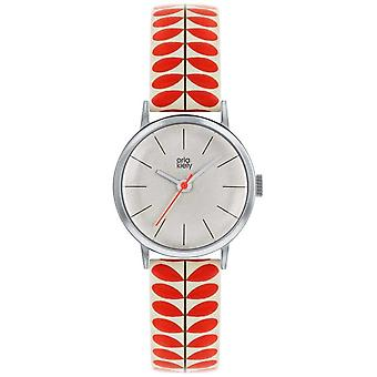 Orla Kiely | Ladies Patricia | Cream And Red Stem Print Strap OK2267 Watch