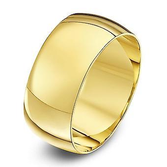 Servilletero de estrellas 9ct luz amarilla oro D forma anillo 9mm
