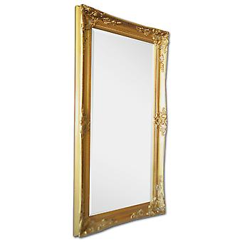 Italy motif mirror in gold, outer dimensions 59x109 cm