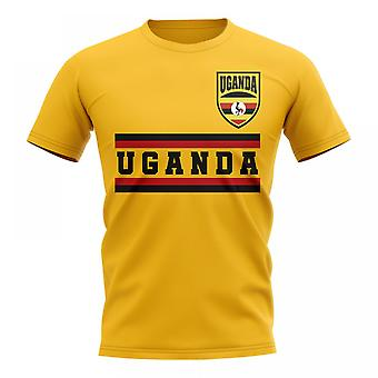 Uganda Kern Fußball Land T-Shirt (gelb)