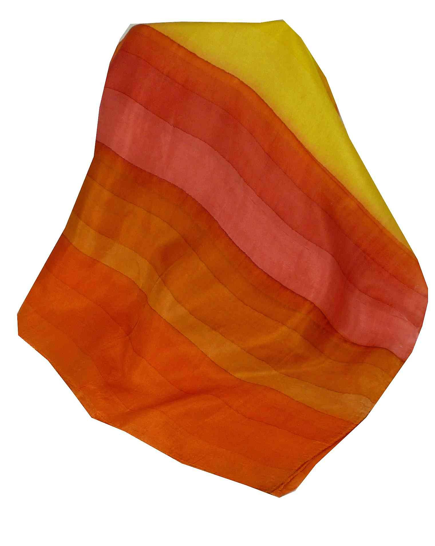 Mulberry Silk Hand Dyed Long Scarf Komu Rainbow Palette from Pashmina & Silk