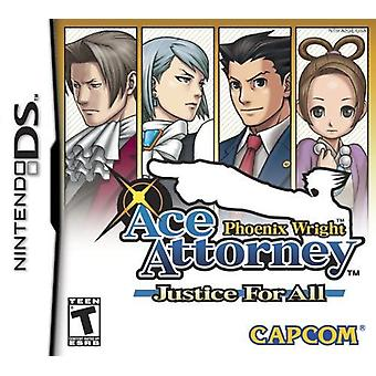 Phoenix Wright Ace Attorney Justice For All - Nintendo DS Game