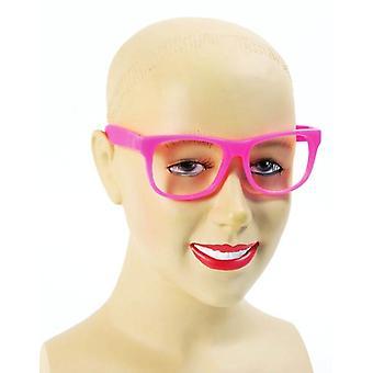 Nerd różowe okulary.