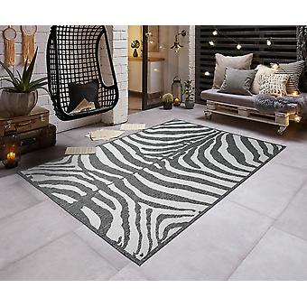 Modern i- & Outdoorteppich platt tyg vända mattan ZEBRA