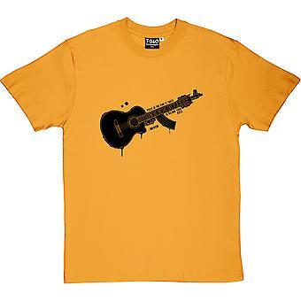 Bob Dylan 'quot;Peace'quot; Citation Yellow Men'apos;s T-Shirt