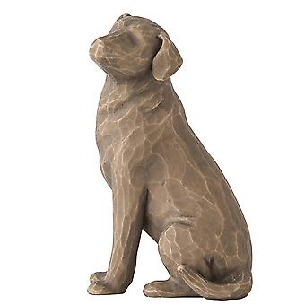 Willow Tree Love My Dog Dark Figurine