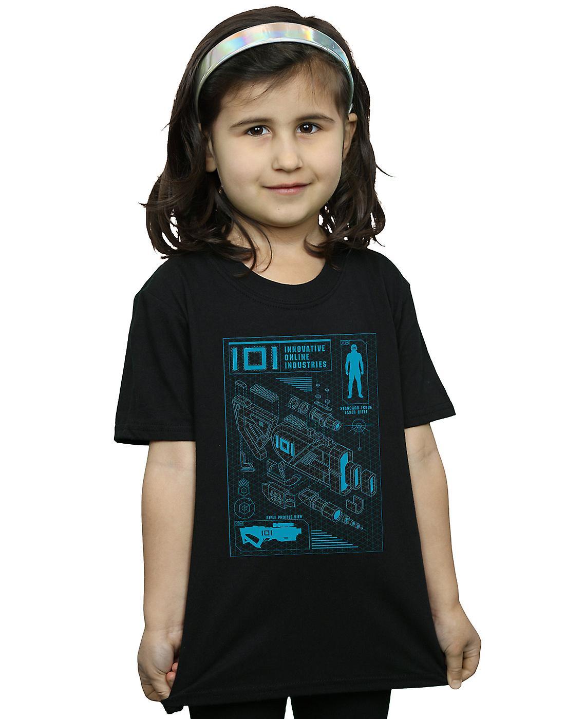 Ready Player One Girls IOI Laser Rifle Blueprint T-Shirt