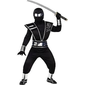 Silver Mirror Ninja kostym för barn & tonåringar