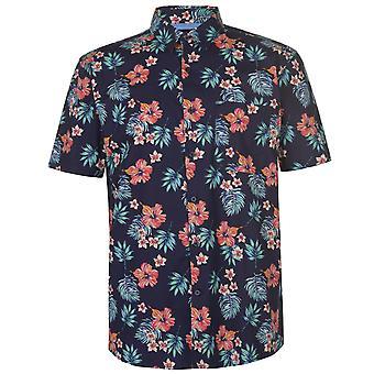 Pierre Cardin miesten trooppinen lyhythihainen paita rento Topit