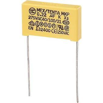 COMPONENTES TRU MKP-X2 1 pc(s) MKP-X2 capacitor Radial chumbo 0,22 μF 275 V AC 10 % 22,5 mm (L x W x H) 26,5 x 6 x 15 mm