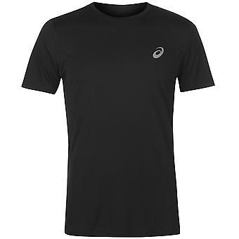 Asics para hombre de la base SS Run T cuello redondo camiseta Tee Top