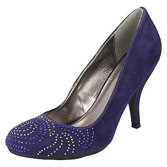 Damen Anne Michelle Diamante Muster Gericht Schuhe L2227