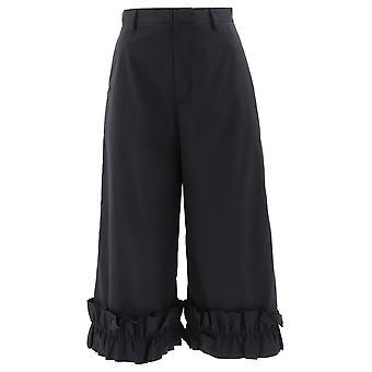 Moncler Genius 1600300v0015999 Women's Black Cotton Pants
