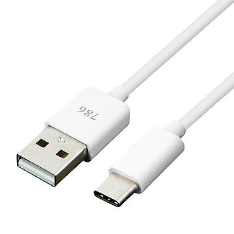 USB typ C till USB 1m kabel reversable Sync Charge-vit