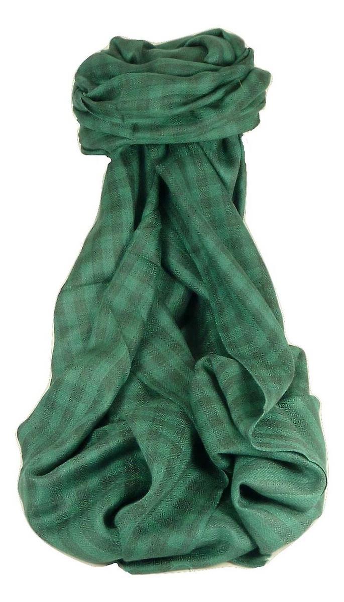 Cashmere Srinagar Muffler Scarf Small Check Emerald by Pashmina & Silk