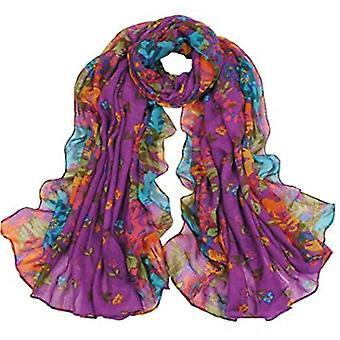 ® womens summer floral chiffon oversized long wrap thin style scarf
