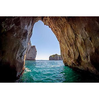Wallpaper Mural Grotta Blu nell'isola di Capri