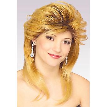 Car Salesgirl 1970s 1980s Blande Vanna Retro Costume Women Wig