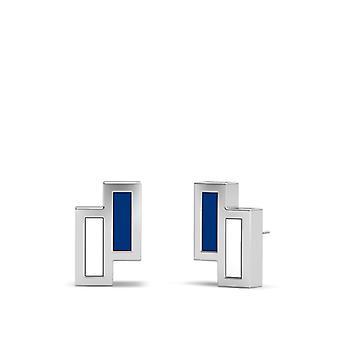 Los Angeles Dodgers Sterling Silber asymmetrische Emaille Ohrstecker In blau und weiß