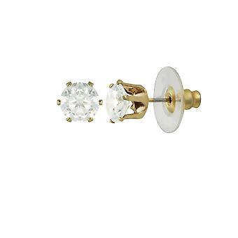 Eternal Collection Tara Clear Crystal Gold Tone Stud Pierced Earrings