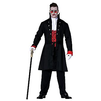 Mens Halloween Comte Dracula Fancy Dress Costume