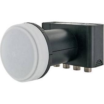 Schwaiger LNB4 Quad LNB Nr. Mindestteilnehmerzahl pro Kurs: 4 LNB feed Größe: 40 mm mit Schalter
