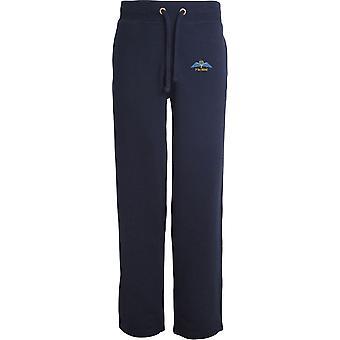 7 Battalion REME - Licensed British Army Embroidered Open Hem Sweatpants / Jogging Bottoms