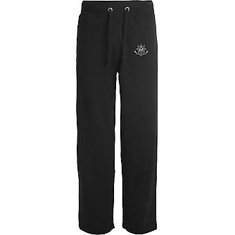 Cheshire Regiment WW1 - Licensed British Army Embroidered Open Hem Sweatpants / Jogging Bottoms