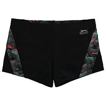 Slazenger jongens curve panel Boxer zwem shorts Junior Kids