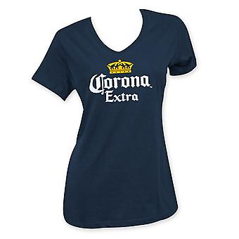 Corona Extra Women's Beer Logo V-Neck