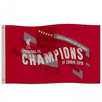 Liverpool FC Champions Of Europe Flagge