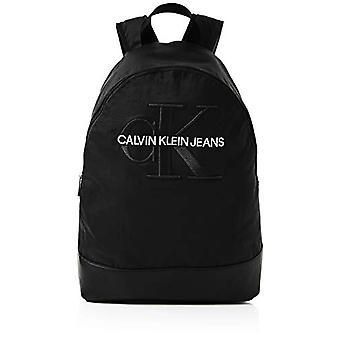Calvin Klein Monogram Nylon Cp Bp W/o Pocket - Zaini Uomo - Nero (Black) - 1x1x1 cm (W x H L)