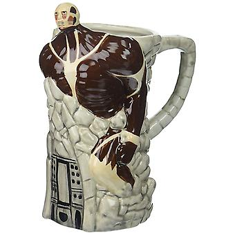 Molded Mug - Attack on Titan - Ceramic Beer Stein New mstn-aot-ttnwall