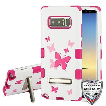 MYBAT Butterfly Dancing/hot pink TUFF hybrid Protector Cover (w/stand) til Galaxy Note 8