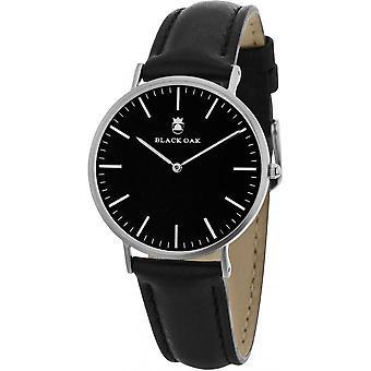 Watch Black Oak BX57904-227 - leather black man