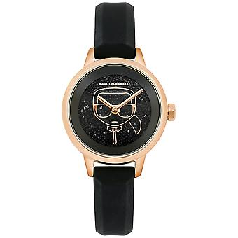 Karl lagerfeld jewelry ikonik Quartz Analog Woman Watch with Silicone Bracelet 5513089