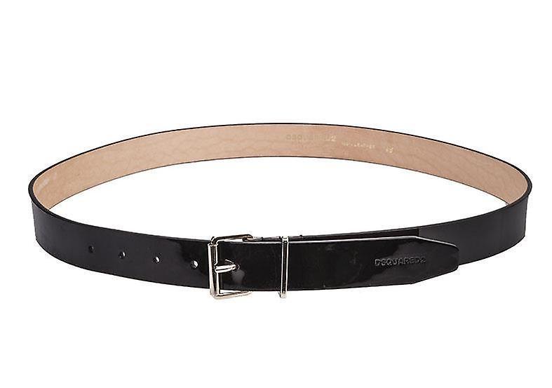 Patent Leather Logo Belt