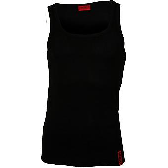 HUGO Idol ribbed Baumwolle Stretch Tank Top Weste, schwarz